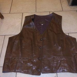 Men's vintage leather vest by Taylor's Leatherwear